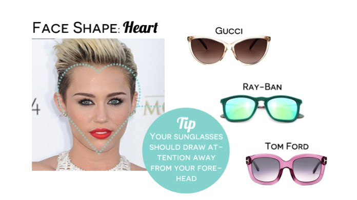 Heart face shape - how to choose the right sunglasses