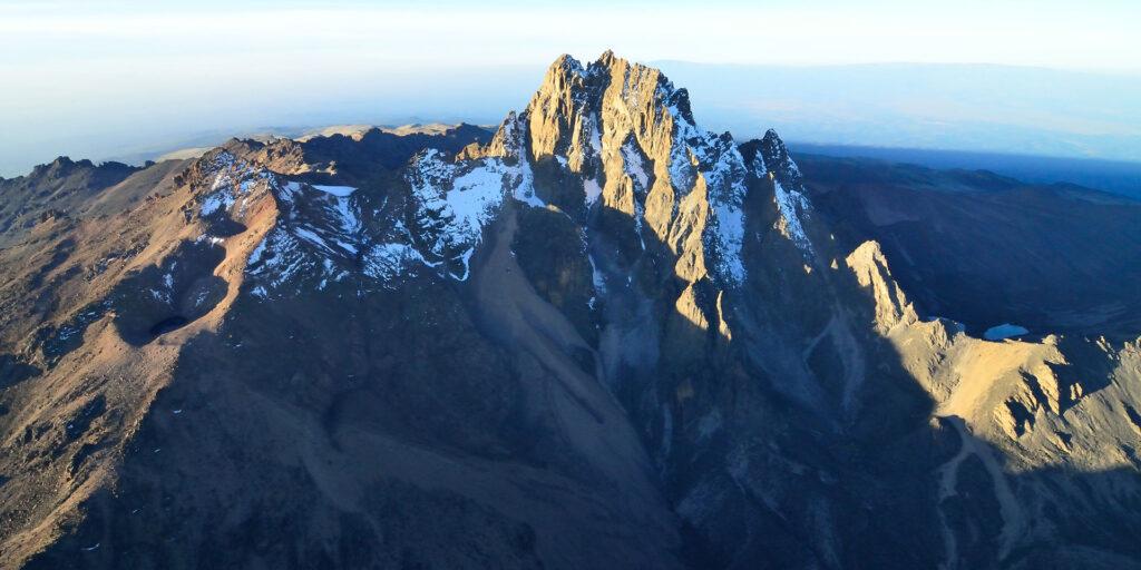 Mt Kenya peak - travel destinations in Kenya