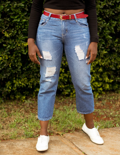 Straight leg types of jeans