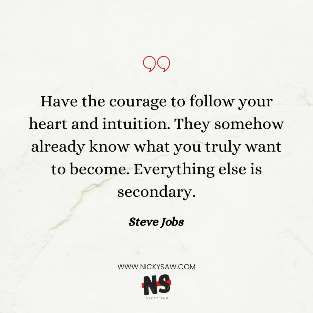 self-discipline Steve Jobs quote