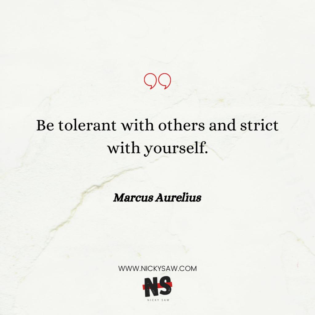 Marcus Aurelius self-discipline quote