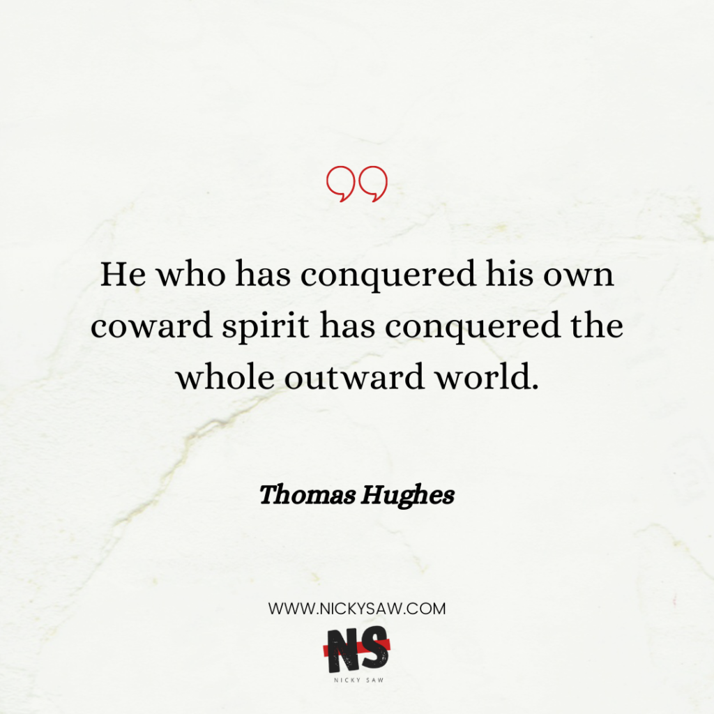 Thomas Hughes self-discipline quote